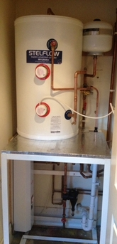 Complex electric system designed and installed with underfloor heating.