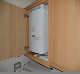 Vaillant  installed in kitchen Cupboard Installation