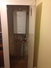 Change from gravity fed to  Worcester 25 si combi in an airing cupboard.