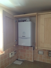 Vaillant 428 install in kitchen.