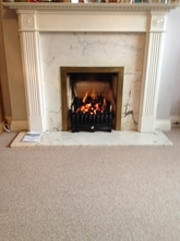 Gas fire installation.