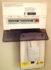 Consumer unit in new build property.