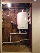 Worcester system boile installed in basement.