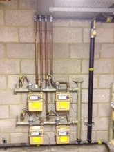 Meter and pipework installation for new build.