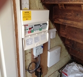 Consumer unit install with alarm.