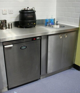 Commercial kitchen installation.