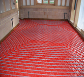 Under floor heating layout.
